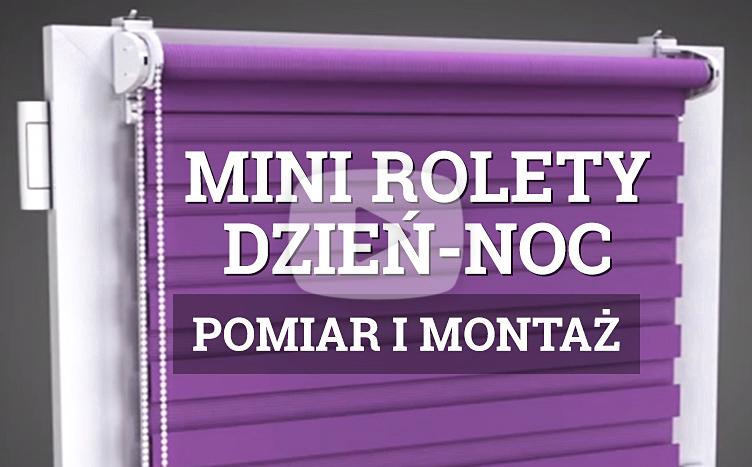 Pomiar i Montaż Mini Rolety Dzień Noc