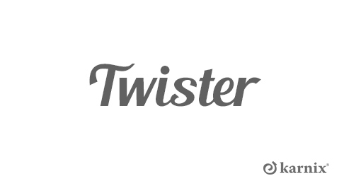 Karnisze z rurą twister Ø16