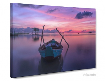 Obraz na płótnie Canvas Panorama Sunset boat