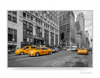 Obraz w Ramce - Panorama New York Taxi
